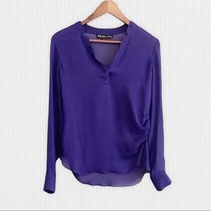 Elizabeth and James 💯% Silk Top Size S